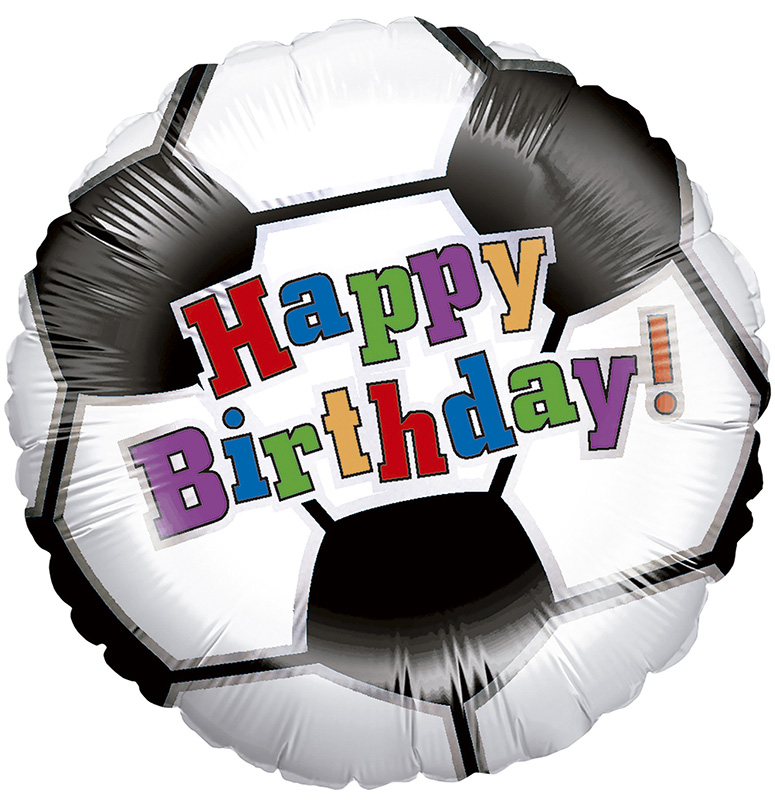 Follienballon Fußball Happy Birthday